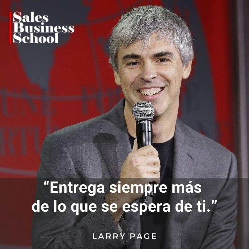 Frase motivadora de Ventas de Larry Page
