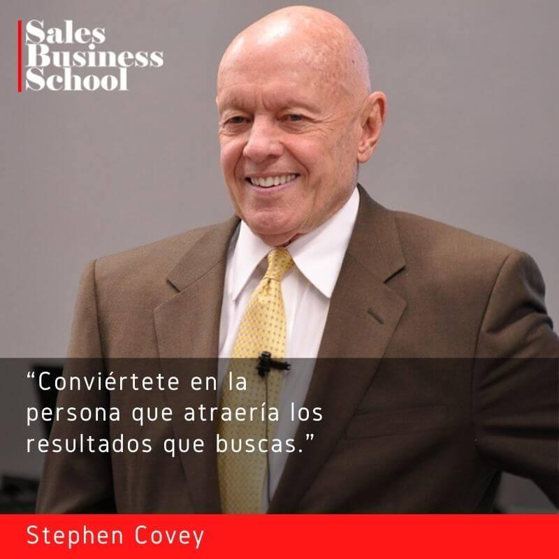 Frase motivadora de Ventas de Stephen Covey