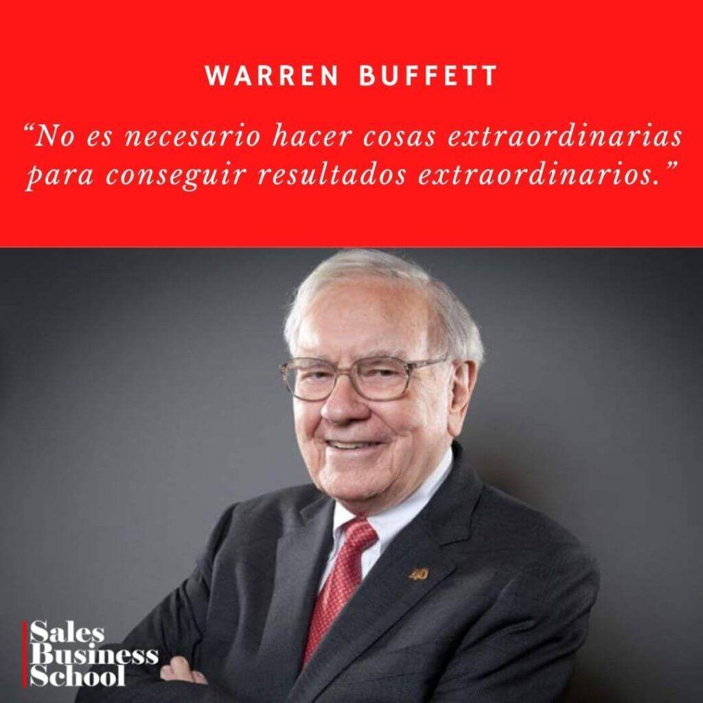 Frase motivadora de Ventas de Warren Buffett